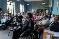 "6th June 2018: A packed house for our first ticketed event. ""Can we borrow your airfield – The Air Tattoo at RAF Greenham Common 1973-1983"" with Tim Prince"